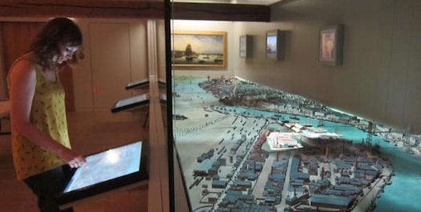 nantes 1900, maquette interactive, plan relief