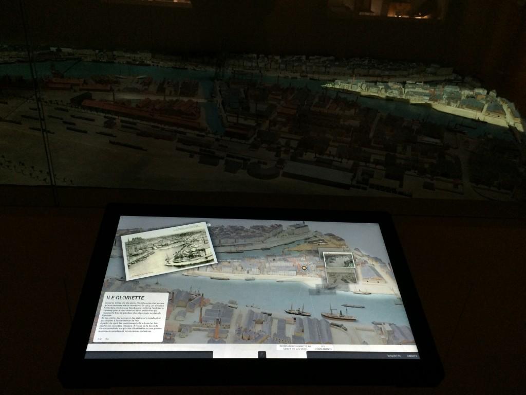 Plan relief interactif de Nantes1900, Château des Ducs de Bretagne, Nantes