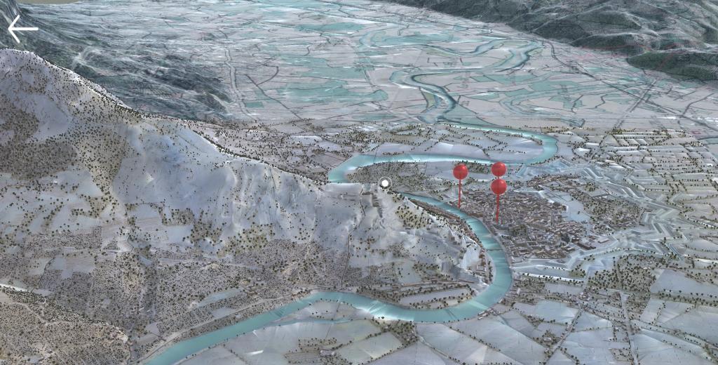 Maquette interactive de Grenoble au 19ème siècle