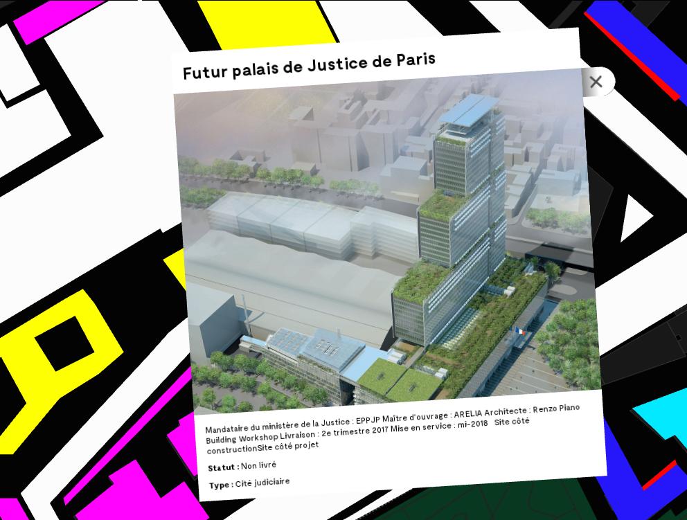 Carte interactive du quartier Clichy-Batignolles, interactive map of Clichy-Batignolles neighbourhood