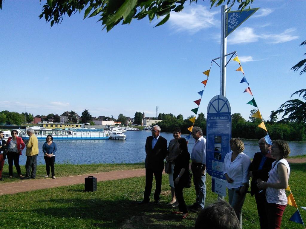 Inauguration balade des mariniers, Saint Jean de Losne