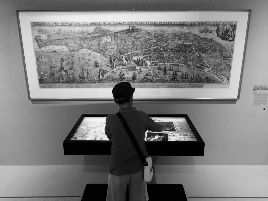 Table tactile: Naples a la Renaissance, exposition Musée Fabre, Juill 2015
