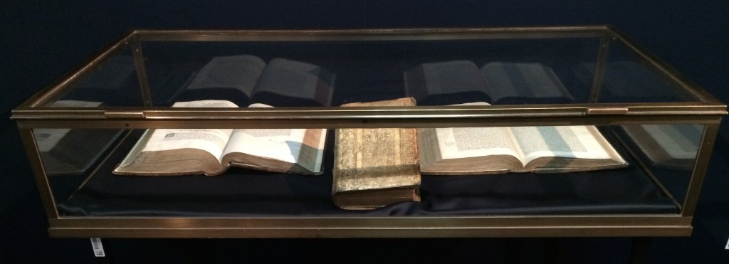 Interactive retail, display case, ancient book