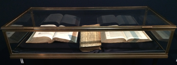 interactive display case, ancient book