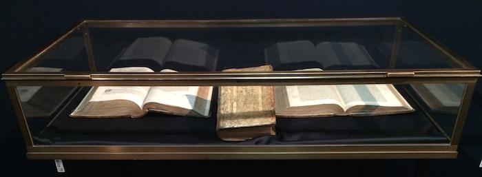 interactive display case, ancient book