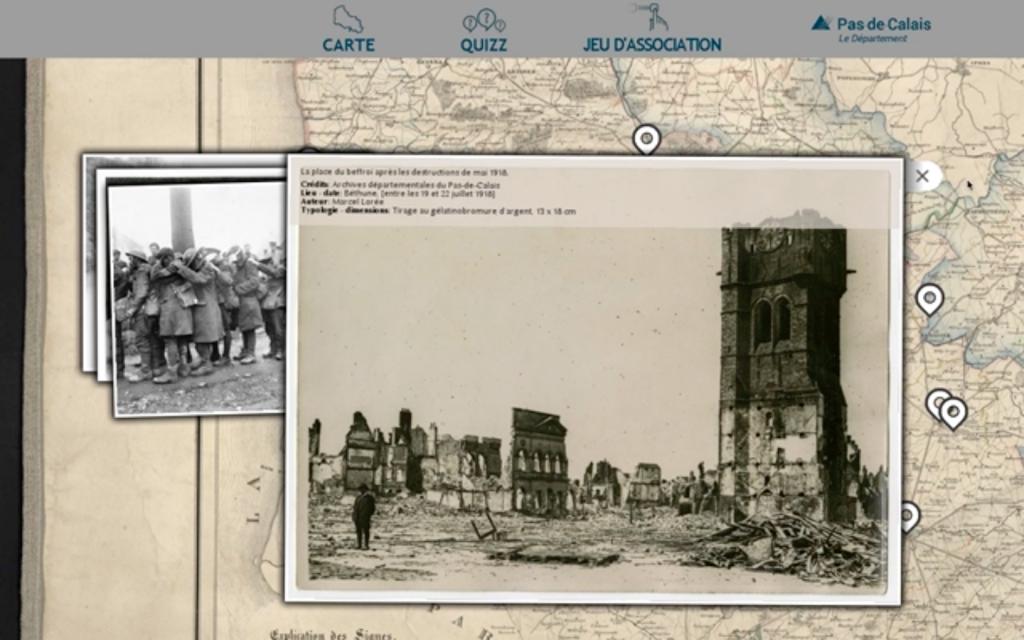 carte interactive histoire archive