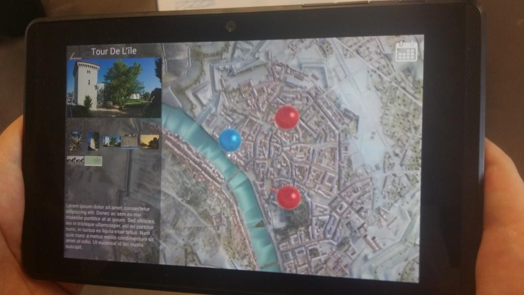 Plan relief de Grenoble, maquette en réalité augmentée