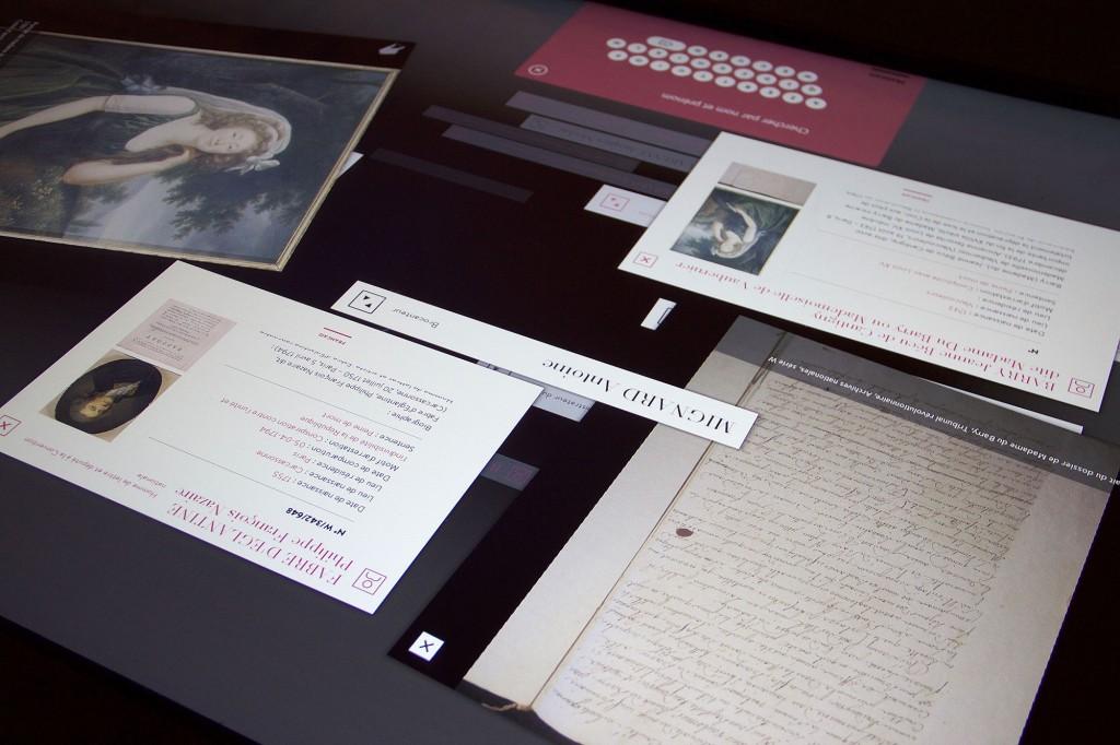 Table multitouch Archives documentaires, Conciergerie de Paris