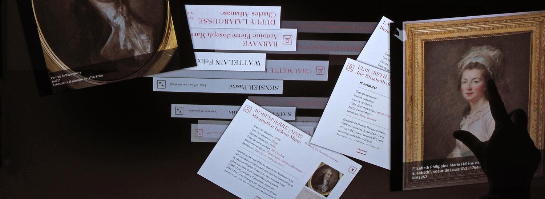 Table Multitouch des archives documentaires, Salle des noms, Conciergerie de Paris
