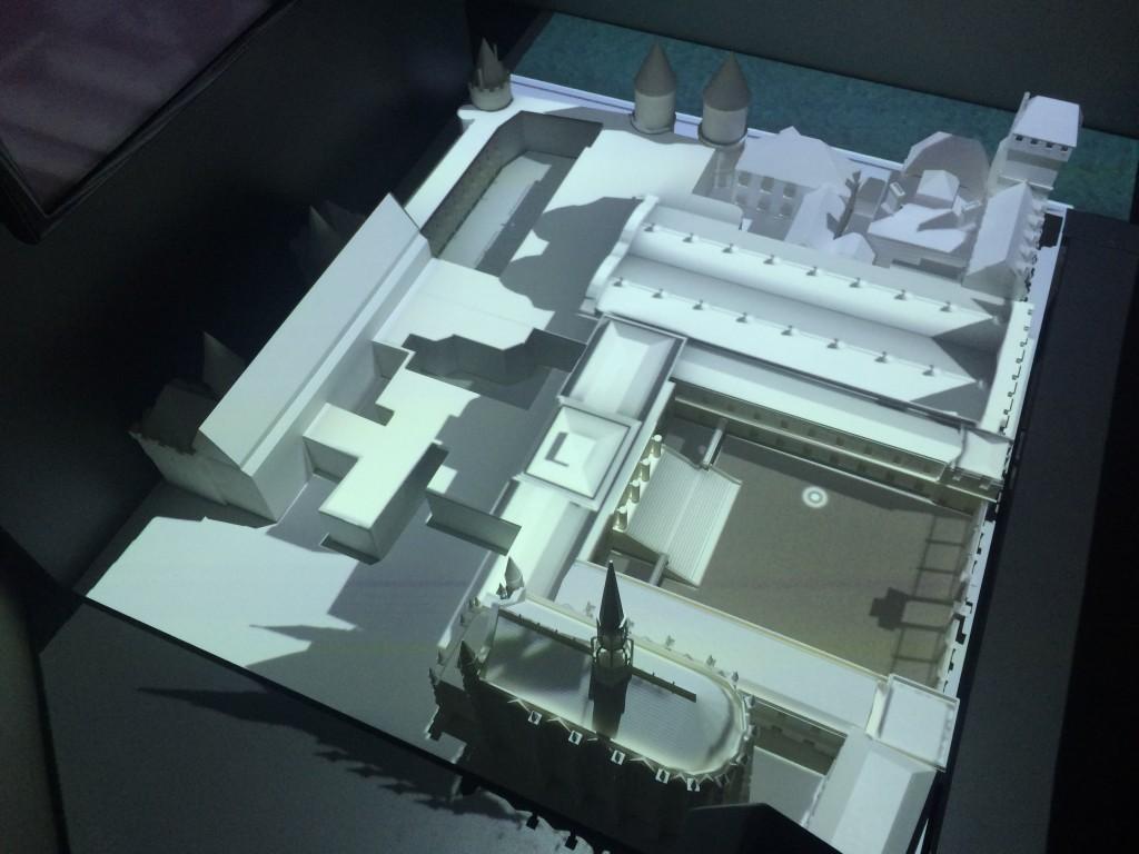 Maquette interactive, avec mapping vidéo 3D