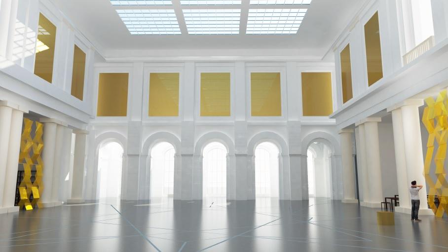 Projet de rénovation de l'Atrium Palais des Beaux Arts de Lille (crédits : Atelier Smagghe, 2016)