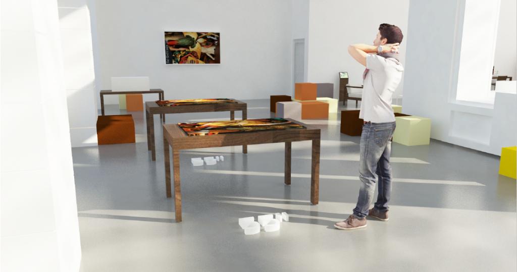 Table multitouch de présentation du lieu, crédit : Atelier Smagghe