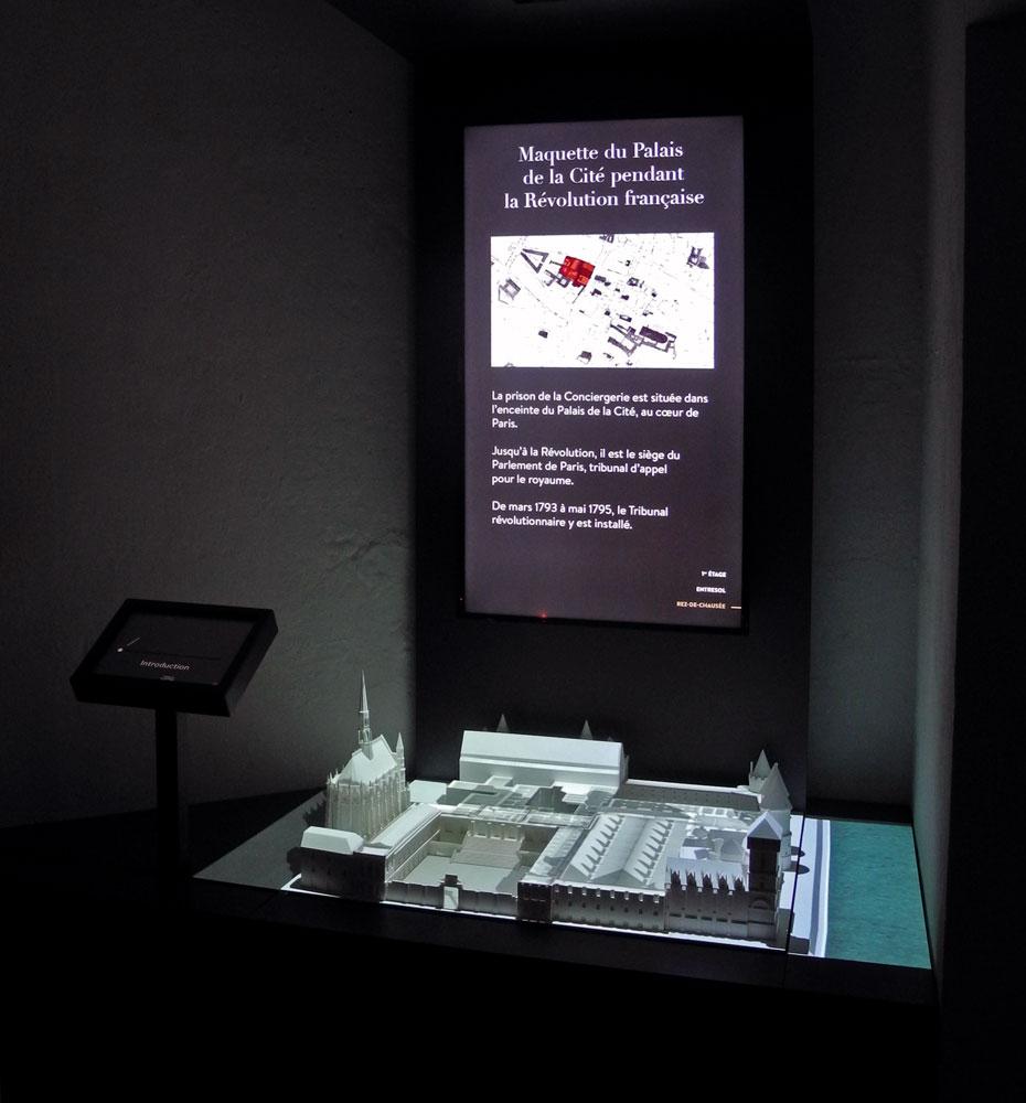 Maquette interactive, Conciergerie de Paris